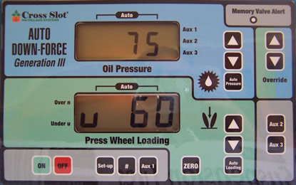 Cross Slot Auto Downforce controls